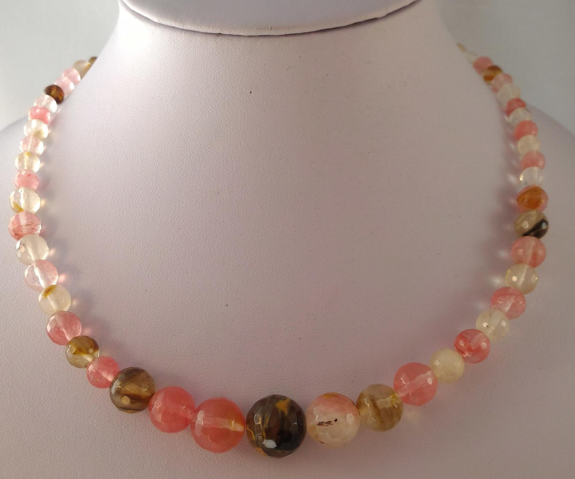 Collier tourmaline melon d eau 2