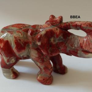 Elephant jaspe rouge 3