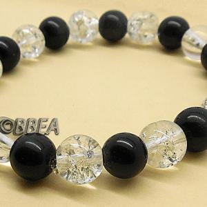 Obsidienne et cristal eclate 2841