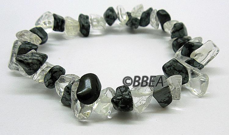 Obsidienne flocon de neige2865