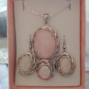 Parure quartz rose 2 1