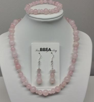 Parure quartz rose 2