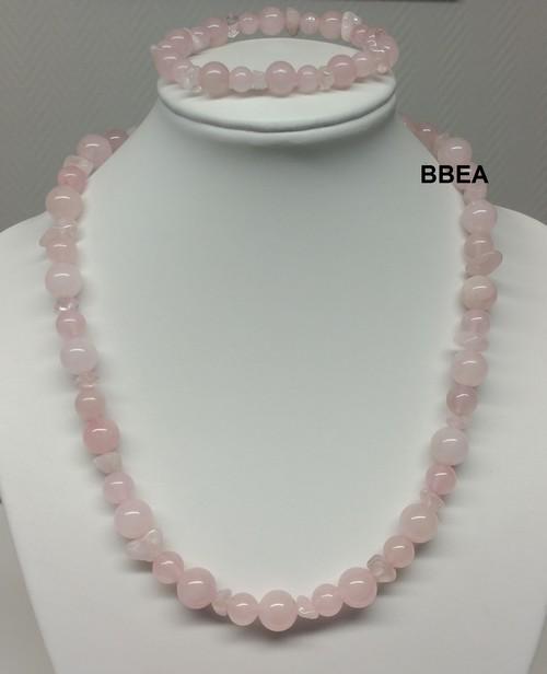 Parure quartz rose