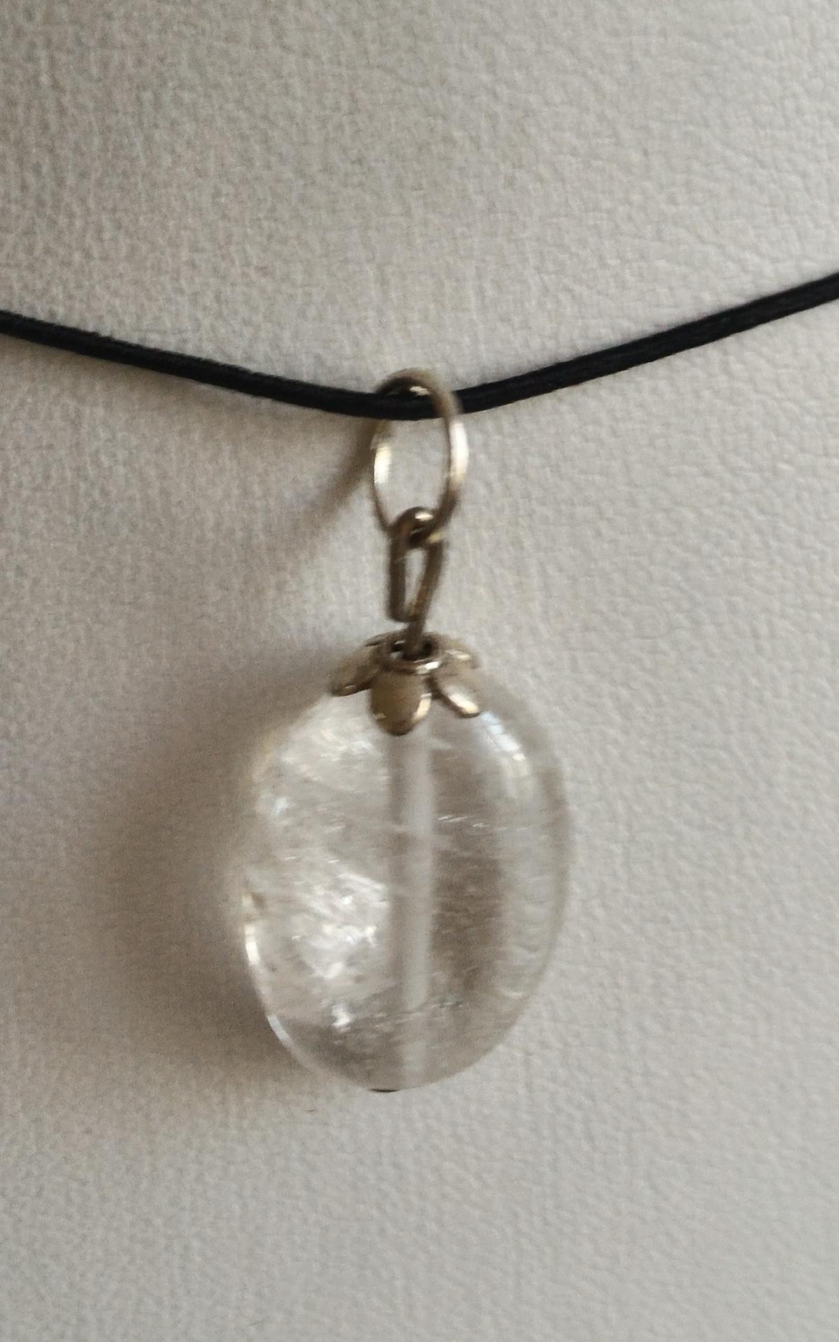 Pendentif cristal de roche 2