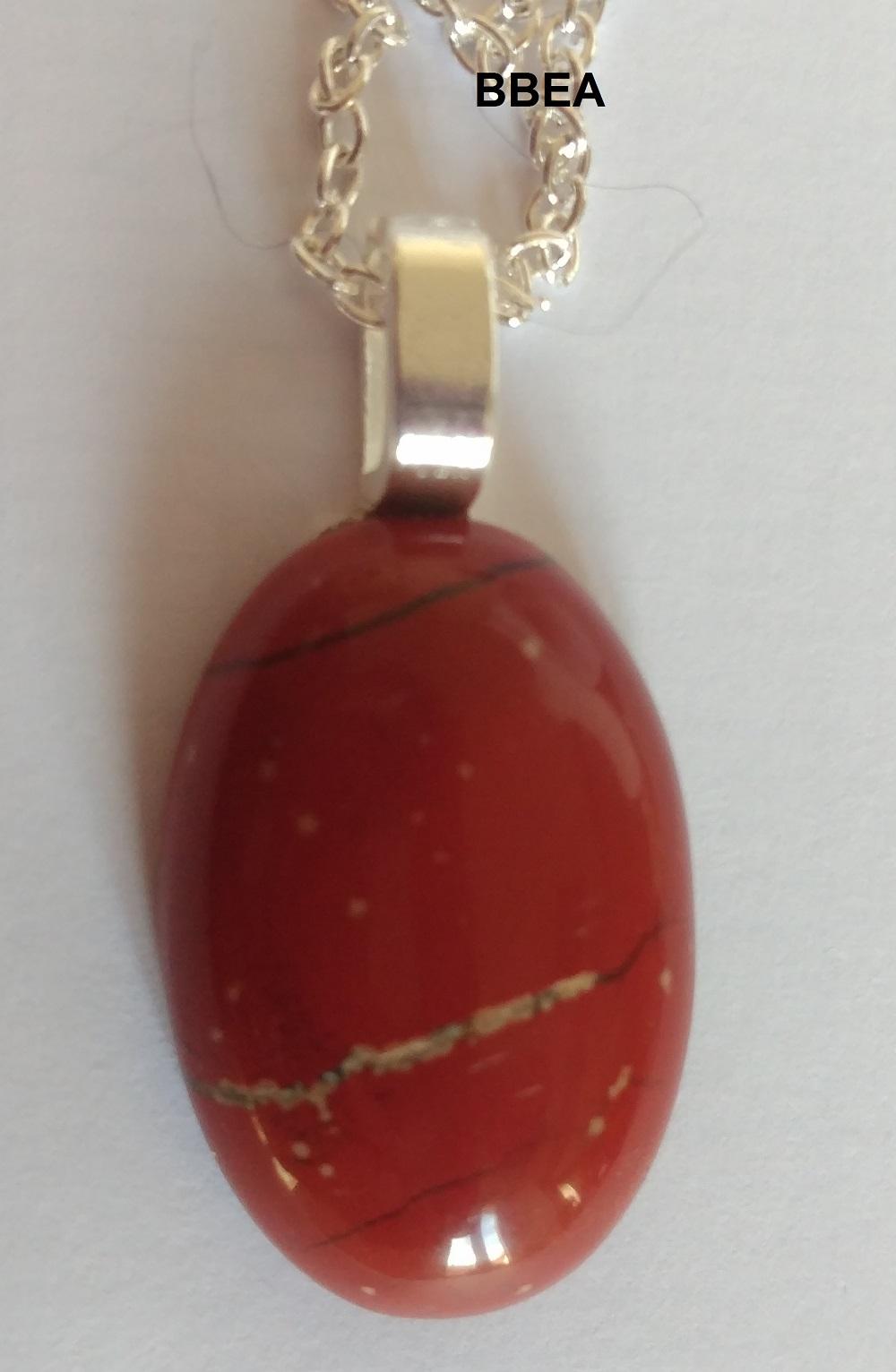 Pendentif jaspe rouge 1