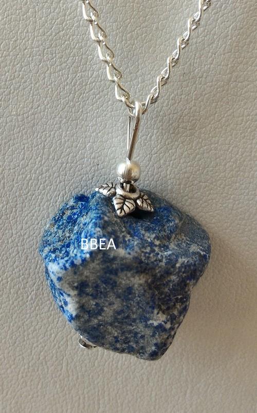 Pendentif lapis lazuli brute 2