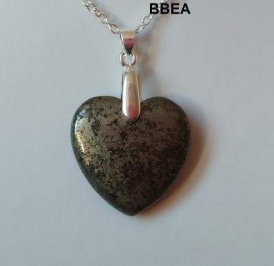 Pendentif pyrite coeur