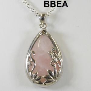 Pendentif quartz rose 1 4