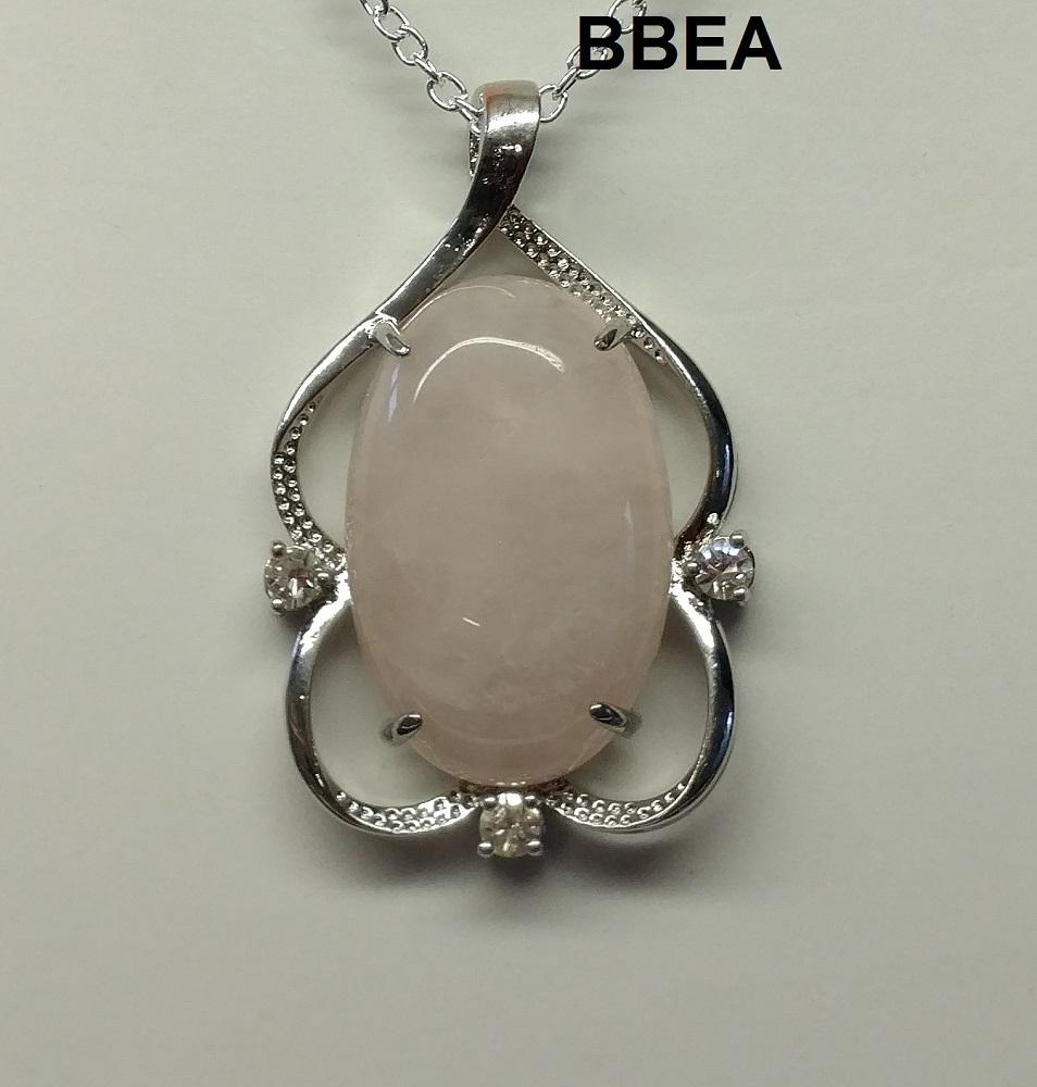 Pendentif quartz rose 1 6