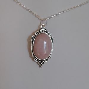 Pendentif quartz rose 1 8
