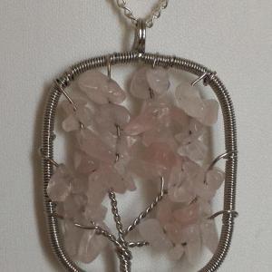 Pendentif quartz rose 1