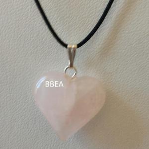 Pendentif quartz rose 13