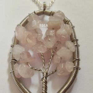 Pendentif quartz rose 16