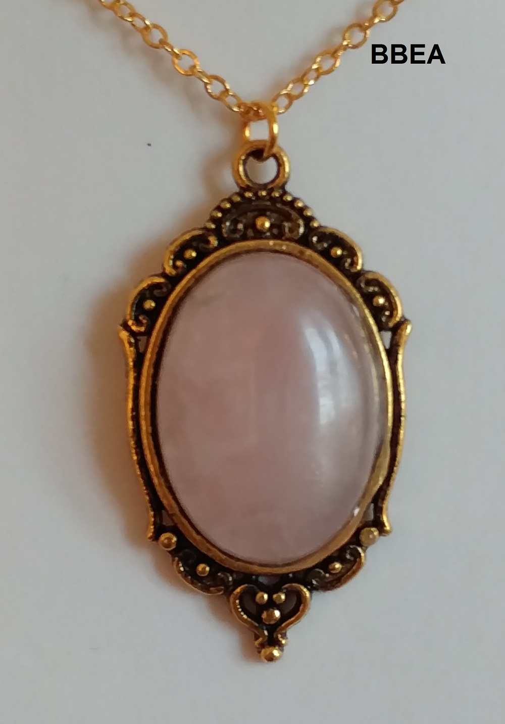 Pendentif quartz rose 2 1