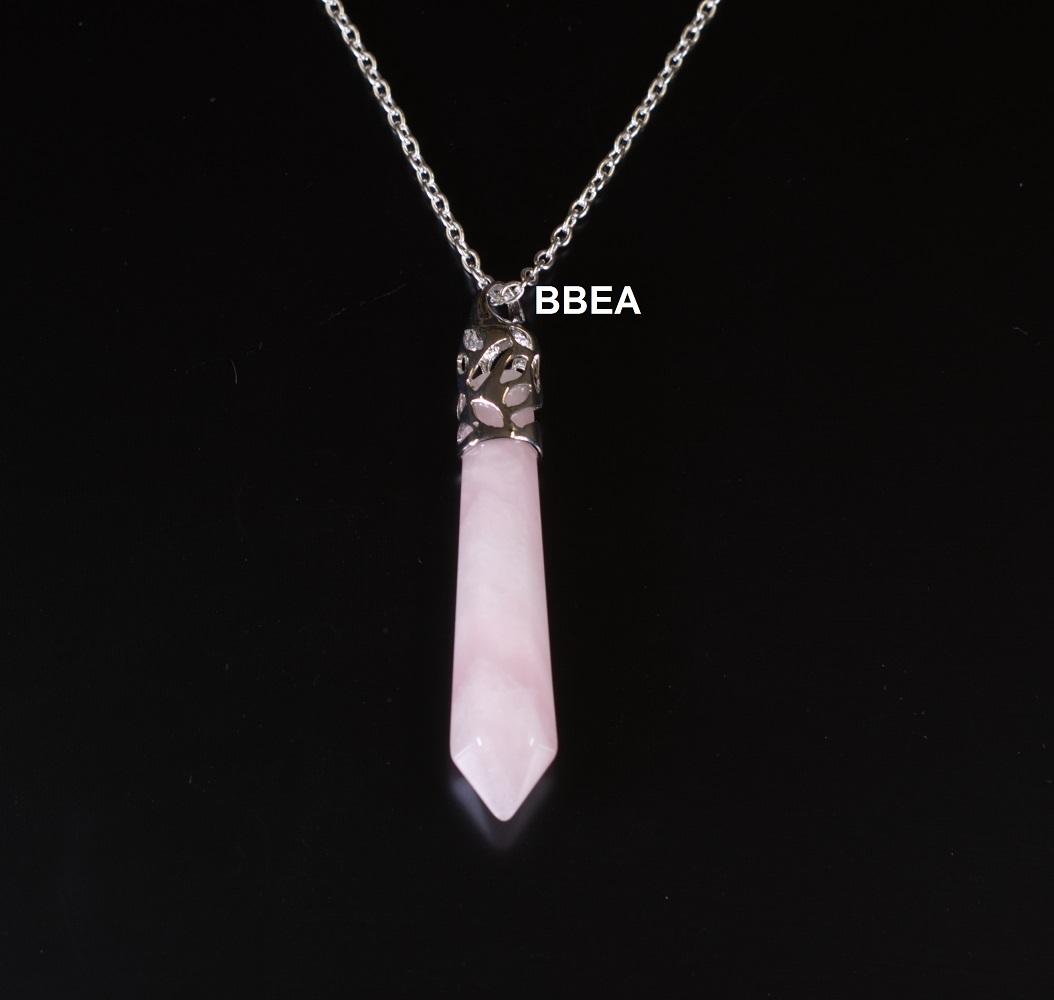 Pendentif quartz rose 2 2
