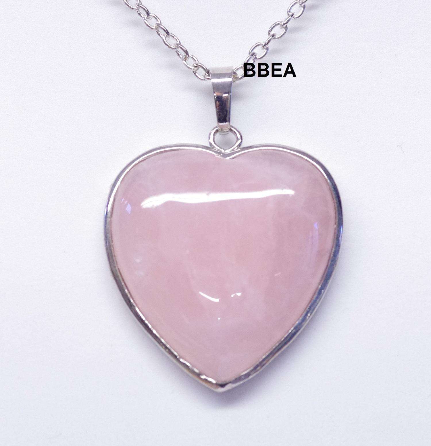 Pendentif quartz rose 2