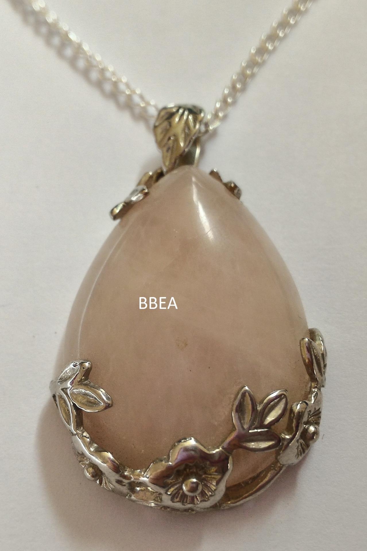 Pendentif quartz rose 20