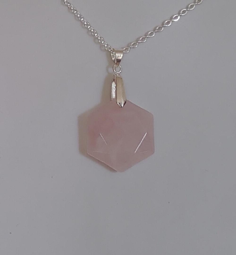 Pendentif quartz rose 3 2