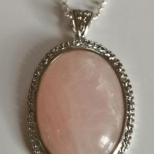 Pendentif quartz rose 3