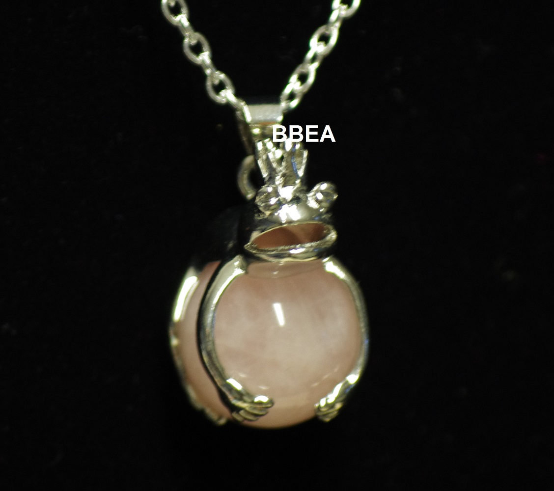 Pendentif quartz rose 4 1