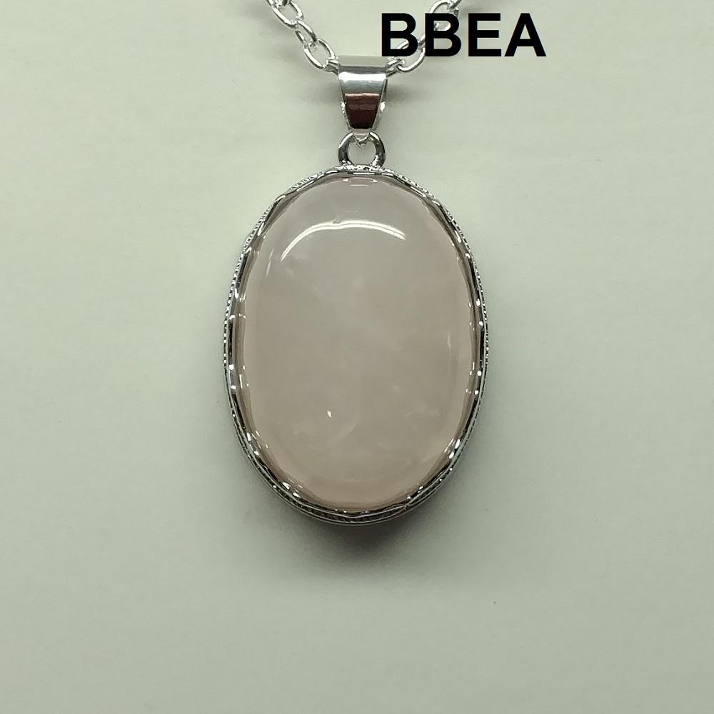 Pendentif quartz rose 4 3