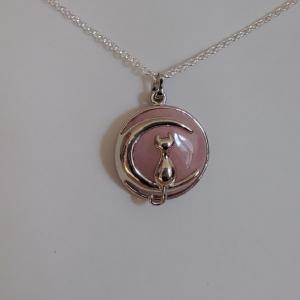 Pendentif quartz rose 4 5