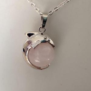 Pendentif quartz rose 4