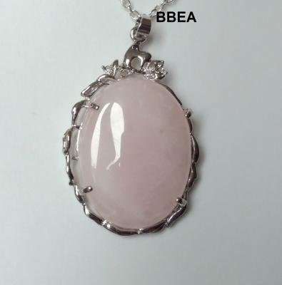 Pendentif quartz rose 5 2