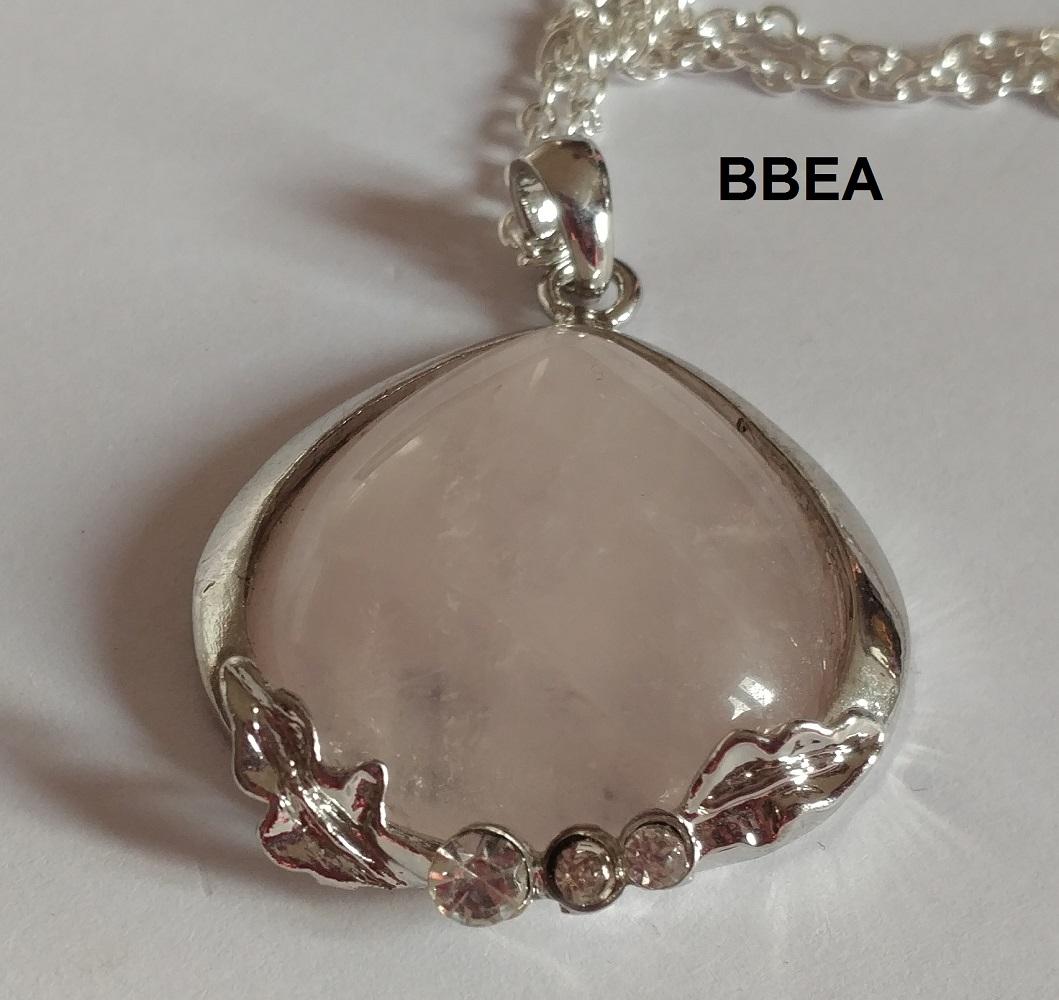 Pendentif quartz rose 5