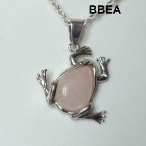Pendentif quartz rose 7