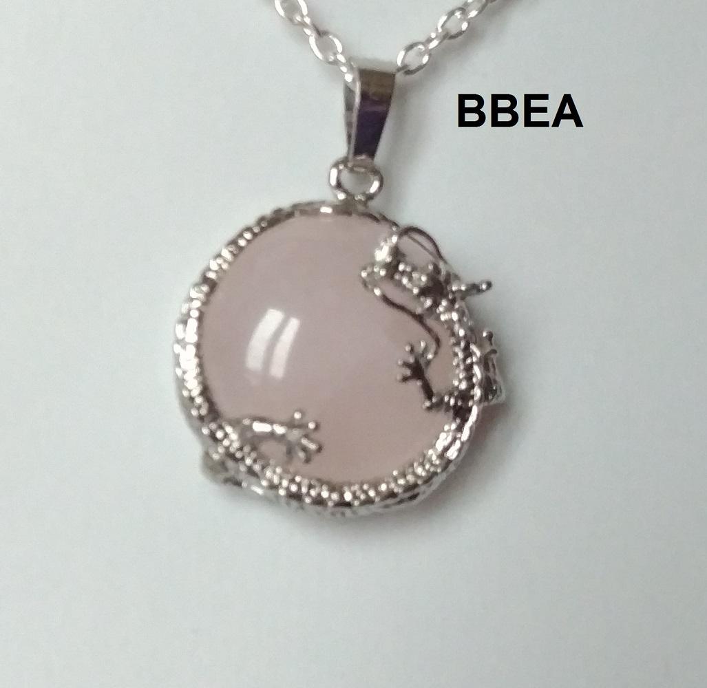 Pendentif quartz rose 8 1