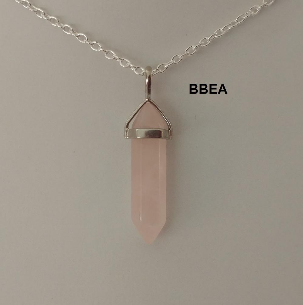 Pendentif quartz rose 9